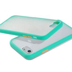 Θήκη Σιλικόνης για iPhone 7/8 Plus Πετρόλ με Ενίσχυση