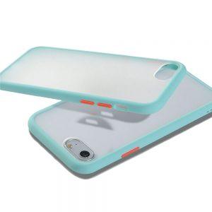 Θήκη Σιλικόνης για iPhone 7/8 Plus Σιέλ με Ενίσχυση
