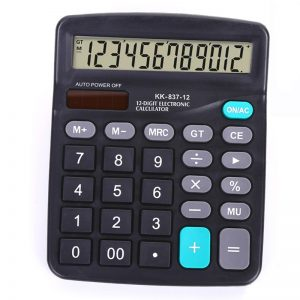 Αριθμομηχανή 12 Ψηφίων KK-837-12 Μαύρο