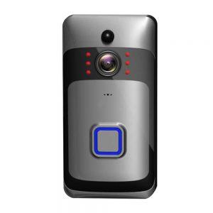 Smart WiFi Κουδούνι Πόρτας με Μπαταρία SW-D256P Ασημί-Μαύρο