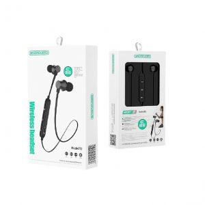 Ακουστικά HandsFree Μαγνητικά Bluetooth  Μαύρα Τ2