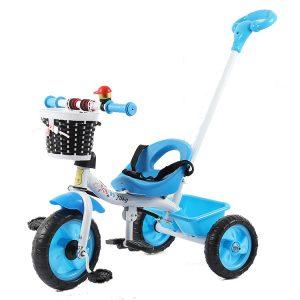 Ποδήλατο Τρίκυκλο Μεταλλικό με Αποσπώμενο Χερούλι Κατεύθυνσης Μπλε