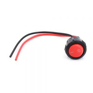 Στρογγυλός Διακόπτης On / Off 12V – 24V 2 Pin Μαύρο