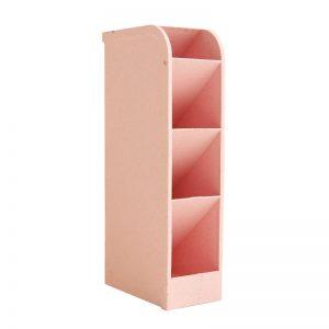 Ορθογώνια Πλαστική Θήκη Οργάνωσης Καλλυντικών Ροζ 7,50cm*21cm*9cm