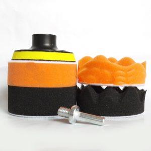 Σετ Σφουγγάρια Γυαλίσματος με Βάση 150mm 5τμχ